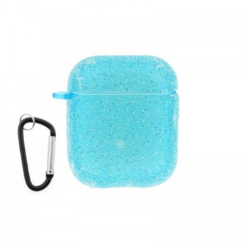 Θήκη Silicone Glitter για Apple AirPods (Γαλάζιο)