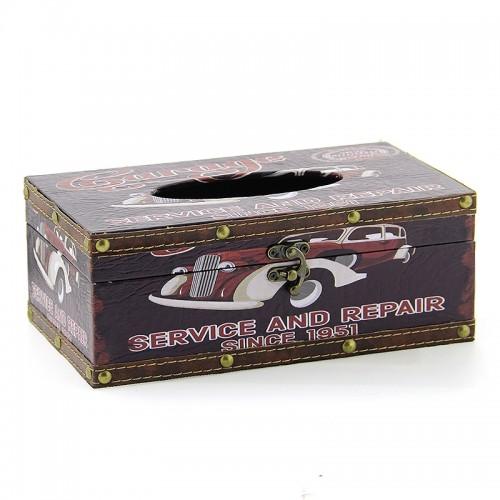 Ξύλινο Κουτί για Χαρτομάντηλα Garage (Design)