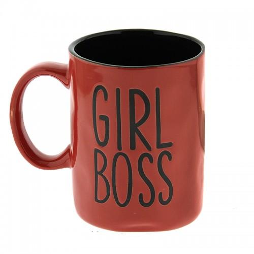 Κούπα Girl Boss 450ml (Κόκκινο - Μαύρο)