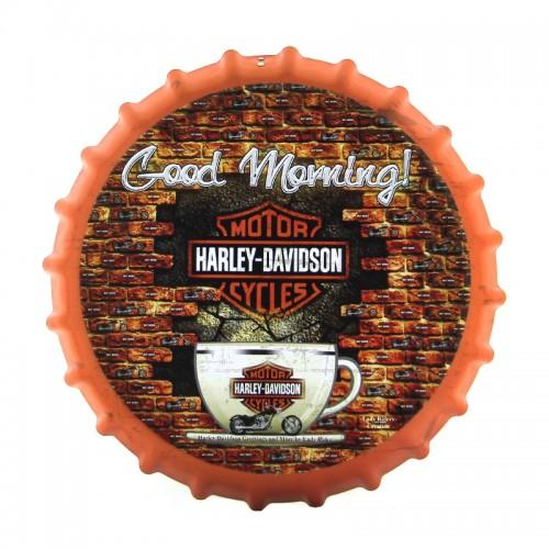 Διακοσμητικό Τοίχου Καπάκι Good Morning Harley-Davidson (Design)