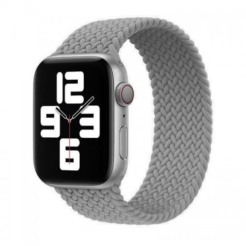 Ανταλλακτικό Λουράκι Σιλικόνης OEM Braided Solo Loop για Apple Watch 42/44mm (138mm) (Grey