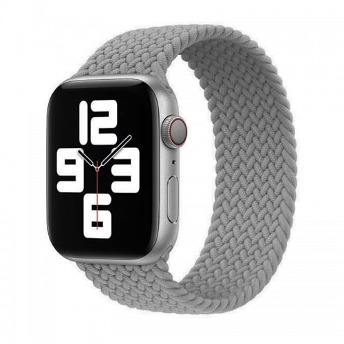Ανταλλακτικό Λουράκι Σιλικόνης OEM Braided Solo Loop για Apple Watch 42/44mm (145mm) (Grey)