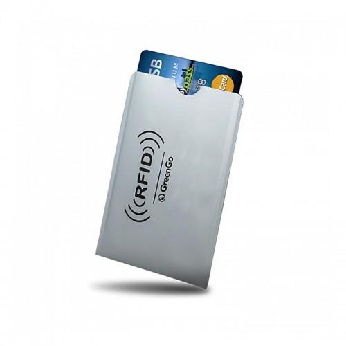 Θήκη GreenGo Paypass προστασίας ανέπαφης ανάγνωσης πιστωτικών καρτών (Γκρι)
