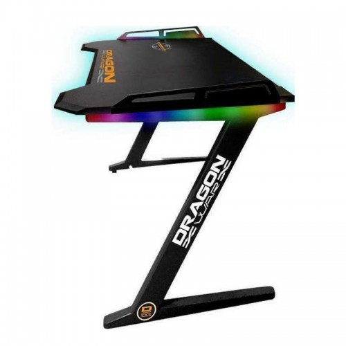 DragonWar Gaming Γραφείο GT-006-V2 με RGB φωτισμό & Wireless Charger 126x68x73cm (Black)
