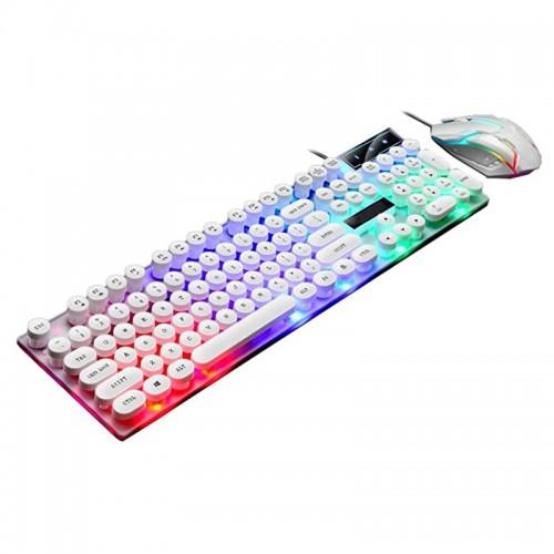 Ενσύρματο Πληκτρολόγιο και Ποντίκι Limeme GTX300 με LED Φωτισμό (Άσπρο)