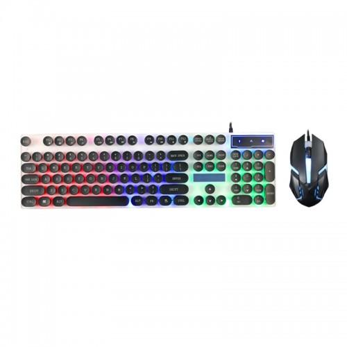 Ενσύρματο Πληκτρολόγιο και Ποντίκι Limeme GTX300 με LED Φωτισμό (Μαύρο-Άσπρο)