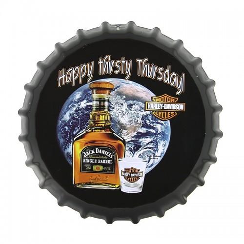 Διακοσμητικό Τοίχου Καπάκι Jack Daniel's Harley-Davidson (Design)