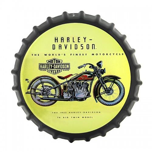 Διακοσμητικό Τοίχου Καπάκι 1933 Harley-Davidson Motorcycles (Design)