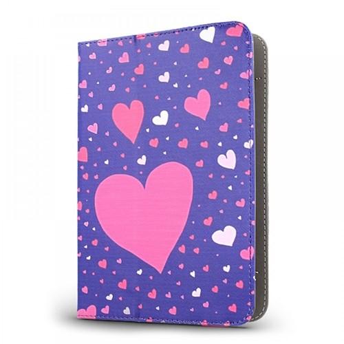 Θήκη Tablet Hearts Flip Cover για Universal 7-8'' (Design)