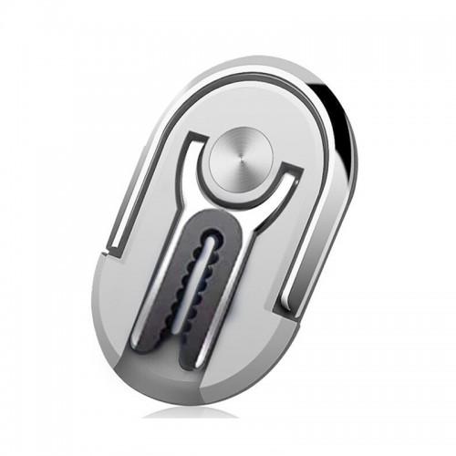 Βάση Hicucoo Ring Car Holder Αεραγωγού για Κινητά (Ασημί)