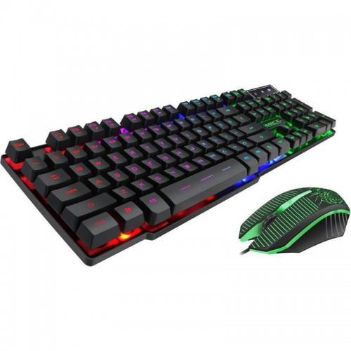 Gaming Σετ Ενσύρματο πληκτρολόγιο και Ποντίκι iMice με LED Φωτισμό KM-680 (Μαύρο)