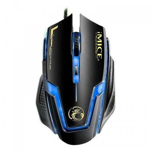 Gaming Ενσύρματο Ποντίκι iMice A9 με LED Φωτισμό (Μαύρο)