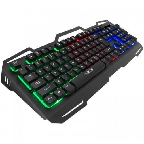 Gaming Ενσύρματο Πληκτρολόγιο iMice AK-400 με RGB LED Φωτισμό (Μαύρο)