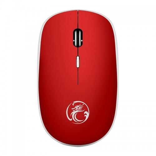 Ασύρματο Ποντίκι iMice G-1600 με 4 Κουμπιά και Αθόρυβη Λειτουργία (Κόκκινο)