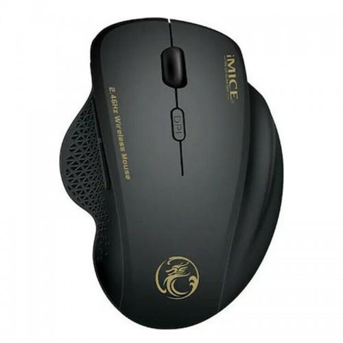 Ασύρματο Ποντίκι Gaming iMice G6 με 6 Κουμπιά και Μηχανισμό Υψηλής Ακρίβειας (Μαύρο)