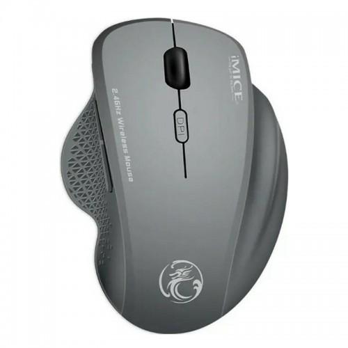 Ασύρματο Ποντίκι Gaming iMice G6 με 6 Κουμπιά και Μηχανισμό Υψηλής Ακρίβειας (Γκρι)