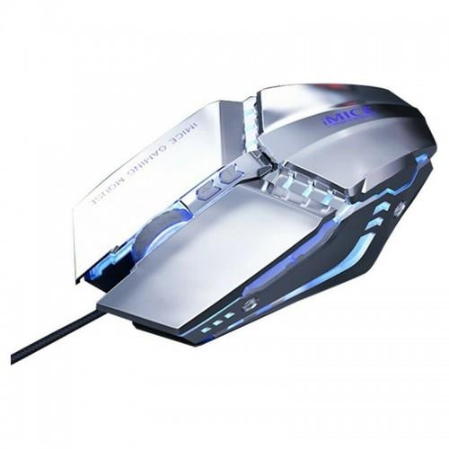 Ενσύρματο 7D Gaming Ποντίκι iMice T80 με LED Φωτισμό (Ασημί)