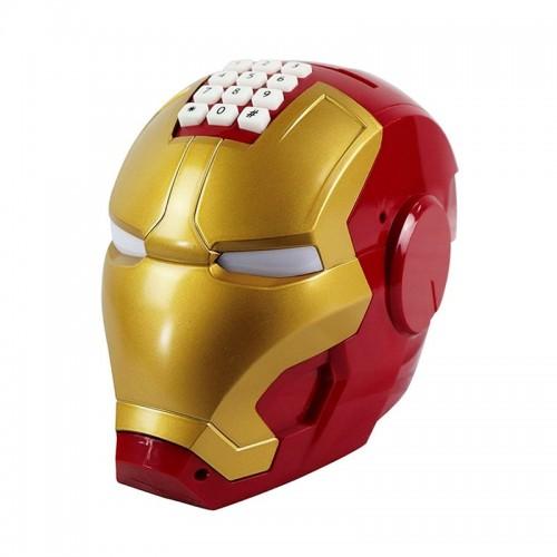 Μηχανικός Κουμπαράς σε σχήμα Iron Man με Αναπαραγωγή Μουσικής (Design)