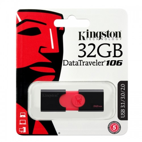 Kingston DataTraveler 106 USB 3.1 32GB (Μαύρο)