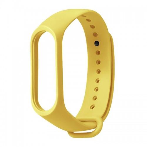 Ανταλλακτικό Λουράκι OEM Softband με Techonto Strap για Xiaomi Mi Band 5 (Κίτρινο)