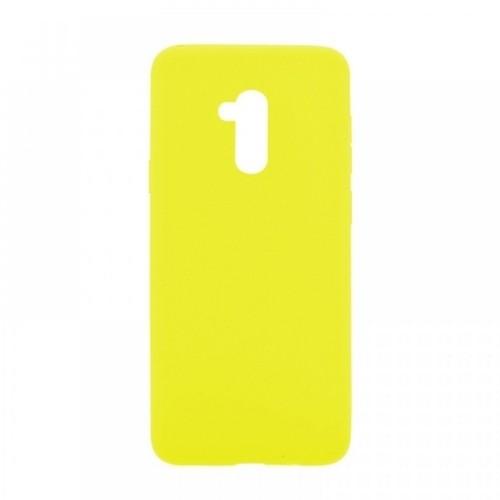 Θήκη MyMobi Σιλικόνης Mat Back Cover για Samsung Galaxy A21s (Κίτρινο)