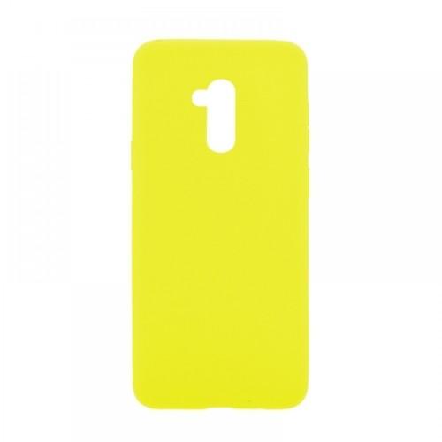 Θήκη MyMobi Σιλικόνης Mat Back Cover για Samsung Galaxy A02 (Κίτρινο)
