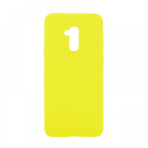 Θήκη MyMobi Σιλικόνης Mat Back Cover για Oppo Realme 7i (Κίτρινο)