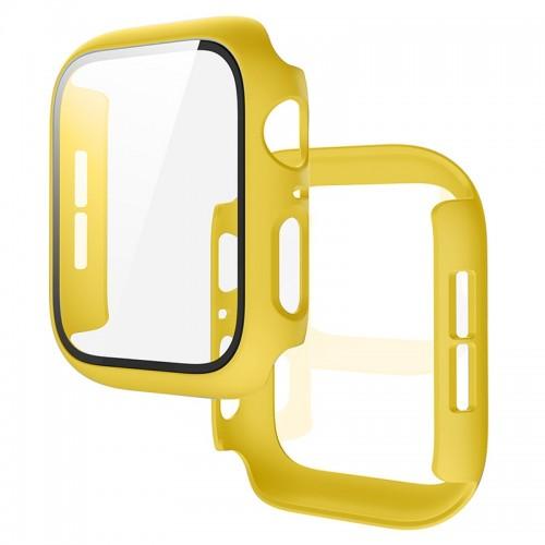 Θήκη Προστασίας με Tempered Glass για Apple Watch 44mm (Κίτρινο)