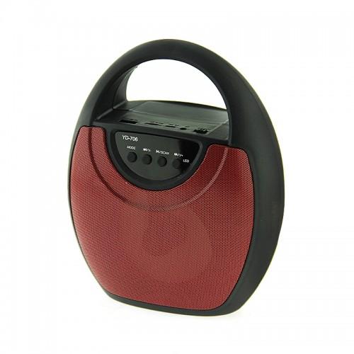Ασύρματο Φορητό Bluetooth Ηχείο 706 (Κόκκινο)