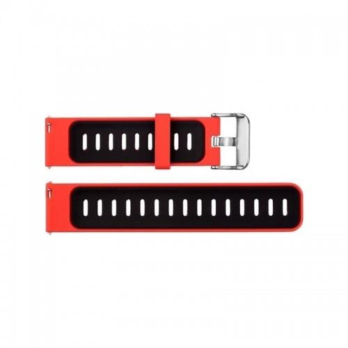 Ανταλλακτικό Λουράκι OEM Two-color για Amazfit 2/2S Stratos (Κόκκινο - Μαύρο)