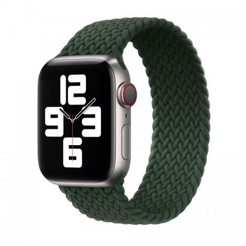 Ανταλλακτικό Λουράκι Σιλικόνης OEM Braided Solo Loop για Apple Watch 42/44mm (145mm) (Kokoda Green)