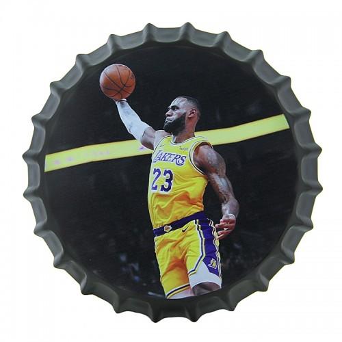Διακοσμητικό Τοίχου Καπάκι LeBron James Slam Dunk (Design)
