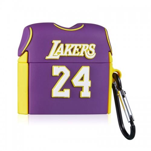 Θήκη Σιλικόνης Lakers για Apple AirPods (Design)