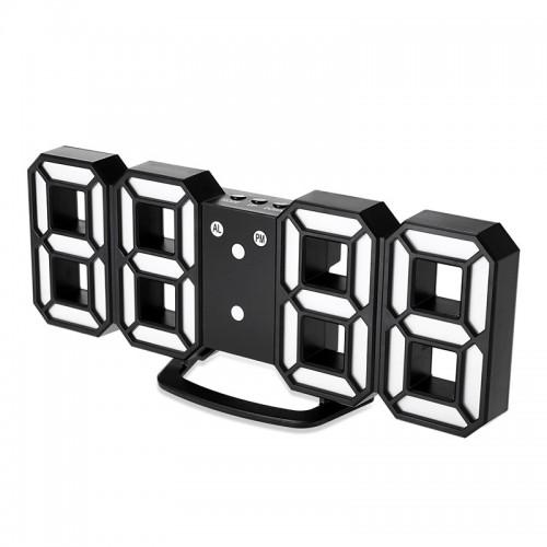 LED Επιτραπέζιο Ψηφιακό Ρολόι-Ξυπνητήρι (Μαύρο)