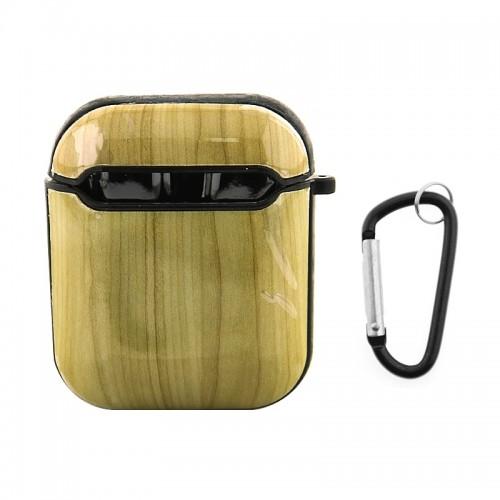 Θήκη με Κλίπ Light Wood για Apple AirPods (Design)