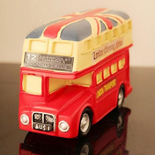 Κουμπαράς σε σχήμα Αγγλικού Λεωφορείου (Κόκκινο)