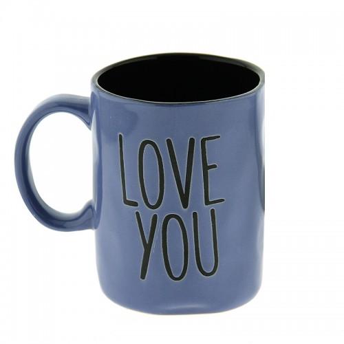 Κούπα Love You 450ml (Μωβ - Μαύρο)