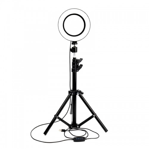 Led Ring Light 26cm και Τρίποδο (Μαύρο)
