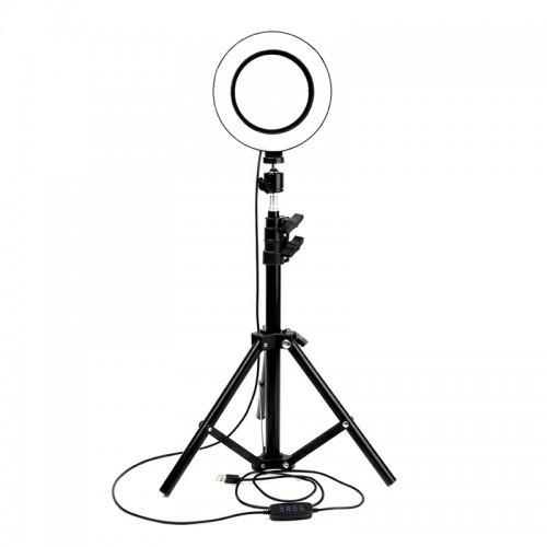 Led Ring Light 20cm και Τρίποδο (Μαύρο)