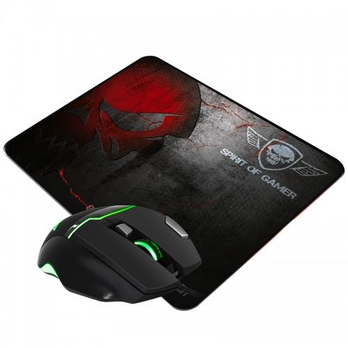 Gaming Ποντίκι Spirit Of Gamer με Mousepad SOG S-EM10 (Μαύρο)