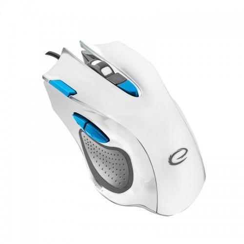 Esperanza Gaming Ενσύρματο Ποντίκι MX401 Hawk EGM401WB (Άσπρο-Μπλε)