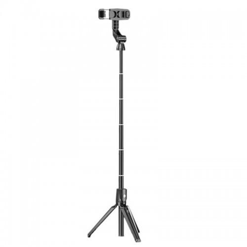 Mini Τρίποδο και Selfie Stick K-21 106cm (Μαύρο)