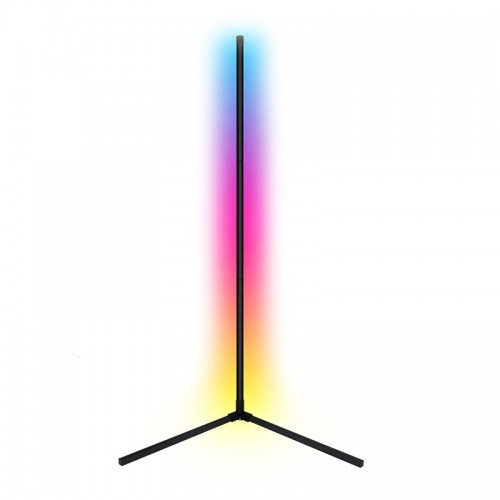 Φωτιστικό Δαπέδου LED 12W με Ασύρματο Χειριστήριο RGB 140cm (Μαύρο)