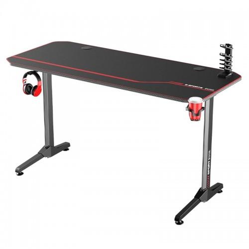 Gaming Desk NE-1460-1 With Headphone hook & Cup holder 140x60x75cm (Black)