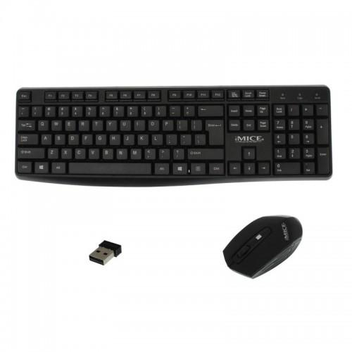 ετ Ασύρματο Πληκτρολόγιο και Ποντίκι iMice AN-100 (Μαύρο)