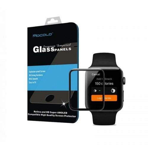 Tempered Glass Mocolo TG+ 3D για Apple Watch 1/2/3 (38mm) (Μαύρο)