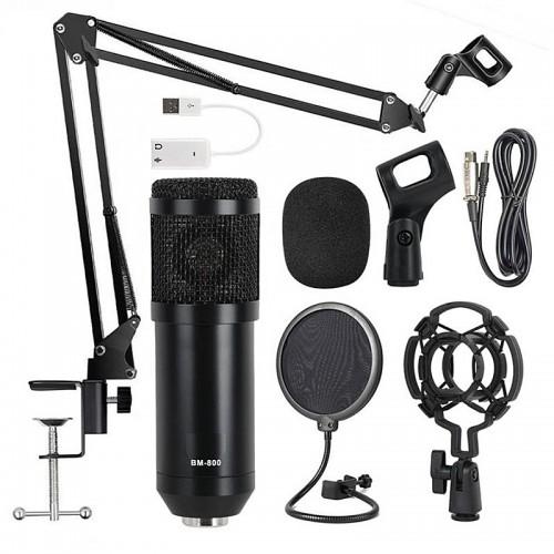 Σετ Studio BM-800 με Πυκνωτικό Μικρόφωνο, Βάση Στήριξης και Φίλτρο (Μαύρο)