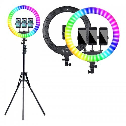 Led Ring Light 45cm 18'' με Εναλλαγή Χρωμάτων και Τρίποδο (Μαύρο)