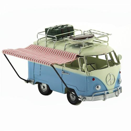 Αυτοκίνητο Εποχής - Βανάκι με Δύο Βαλίτσες (Γαλαζιο)