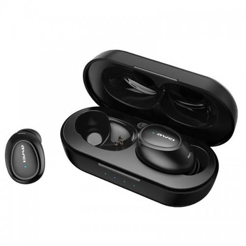 Ασύρματα Bluetooth Ακουστικά με Βάση Φόρτισης Awei T16 (Μαύρο)